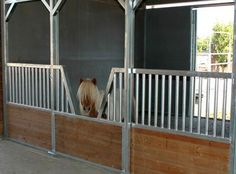 My farm will need a few minis as pasture buddies. How adorable is this little stall to house them in at night?