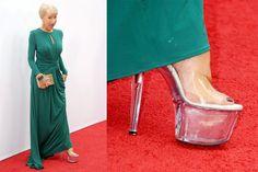 "I love the expression on her face here. LOVE. ""To Discuss: Helen Mirren's Stripper Shoes."" - The Cut"