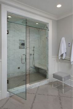 Shower. Shower Glass door. Steam shower and polished nickel fixtures and glass door. Shower. Shower Glass door. #Shower #ShowerGlassdoor #steamshower Bluewater Home Builders