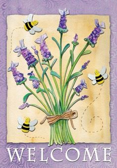 Lavender Welcome House Flag by Toland Home Garden. Save 59 Off!. $16.28.