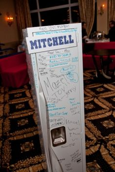 Bar Mitzvah Ideas http://www.bmmagazine.com/home/mitzvah-store - great sign in idea