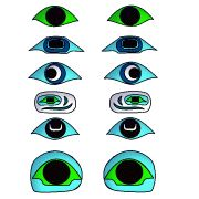 Eye Shapes #002 for totem poles papertotempoles.com