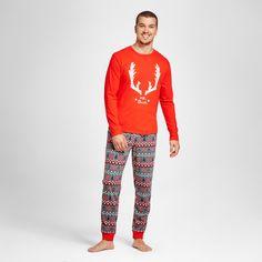 Wondershop Men's Fair Isle Family Pajama Set - Anthem Red Xxl, Orange