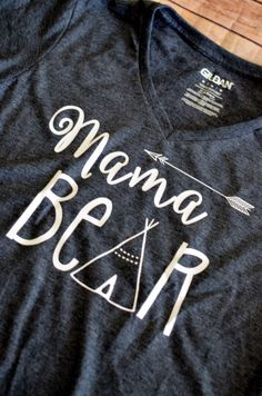 Mama Bear V Neck Shirt by LeeThreeEmbroidery on Etsy https://www.etsy.com/listing/231236212/mama-bear-v-neck-shirt
