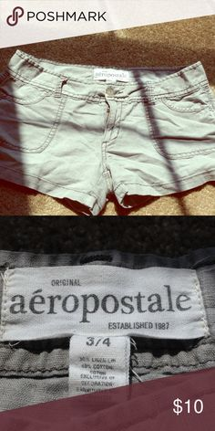 Aeropostale short shorts 3/4 size ( like a size 1 in juniors) fit great. No stains or rips! Aeropostale Shorts