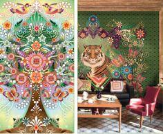 DETALLE FUNDA NÓRDICA ORNATE DE CATALINA ESTRADA Cata, Tapestry, Painting, Home Decor, Duvet Covers, Drawings, Hanging Tapestry, Tapestries, Decoration Home