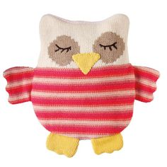 So cute!  Knitted Owl Hottie