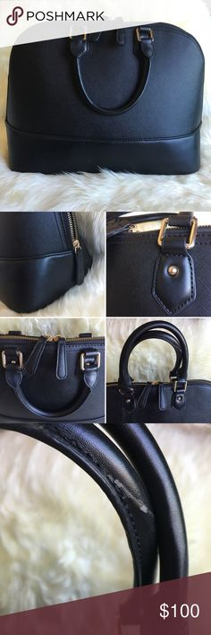 """Saffiano Black Leather Satchel Beautiful Saffiano satchel 