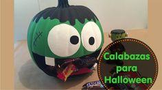 """[DIY] Cómo decorar calabazas de halloween Mira lo fácil que es decorar calabazas para Halloween! Y ahórrate el tener que lidiar con el relleno de las calabazas tradicionales! Además es una forma muy original de repartir dulces a los peques que toquen a tu puerta la noche de Halloween. O a los invitados que te visiten durante el mes ;) Si te gustó este video dale manita arriba y no te olvides de suscribirte a mi canal de Youtube, dándole click al botoncito rojo que dice """"Suscribirse""""."""