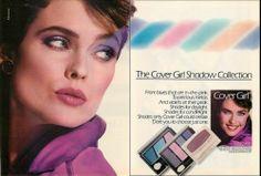 1986 ad for Cover Girl featuring Carol Alt 1980s Makeup, Makeup Ads, Retro Makeup, Love Makeup, Magazine Ads, Print Magazine, Print Advertising, Print Ads, Mademoiselle Magazine