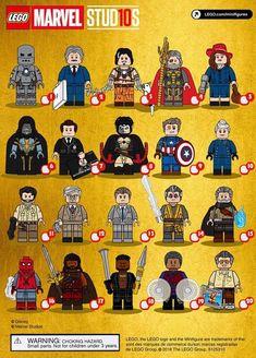 Marvel Studios First 10 Years Lego CMF Minifigure Draft Ms Marvel, Marvel Vs Dc Comics, Lego Dc Comics, Lego Custom Minifigures, Lego Minifigs, Lego Ironman, Lego Batman, Lego Ninjago, Lego Star Wars
