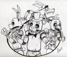 A draw of characters... Five Nights At Freddy's