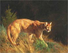 Cougar/puma painting by Greg Beecham