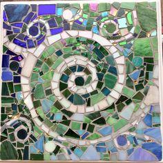 Small mosaic cocktail table, 26x26cm wide and 60,5cm tall. 1.800kr #mosaic #mosaik #table #cocktails #glass #art #white #waves #water #green #blue #grøn #blå #bord #kunst #mosaicart #udskæring #hvid #drinks #馬賽克 #мозаика #mosaique #モザイク #copenhagen #cph #københavn #denmark by @lindamath4711 with @smilethelabrador