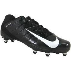 Nike Vapor Untouchable 3 D Football Cleats - Mens Black White Anthracite Mens Football Cleats, Men's Football, Rogan's Shoes, Nike Vapor, Black And White Man, 3 D