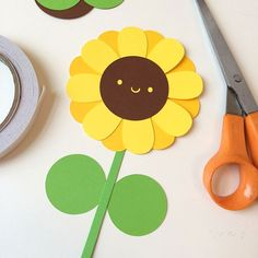Paper cut sunflower card for Mother's Day