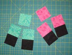 Try this quilt pattern to create a quilt with colorful overlapping squares that seem to float against a dark background.