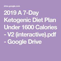 2019 A Ketogenic Diet Plan Under 1600 Calories – (interactive).pdf – Go… Ketosis Diet, Ketogenic Diet Plan, Ketogenic Recipes, Keto Recipes, Low Fat Diets, No Carb Diets, L Glutamine Benefits, Migraine Diet, Low Carb Recipes