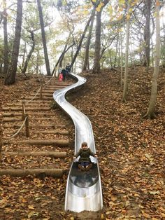 Landscape Stairs, Landscape Architecture, Landscape Design, Outdoor Stairs, Outdoor Fun, Sloped Backyard, Garden Stairs, Hillside Landscaping, Natural Playground