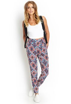 Tribal Print Pleated Pants | FOREVER21 - 2000086285