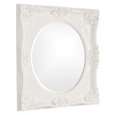 "Howard Elliott Monique White Mirror 30"" x 34"" x 2"""