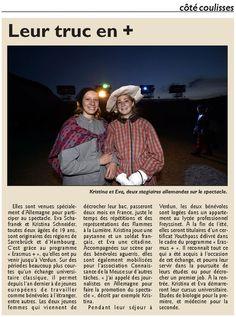 Kristina et Eva, programme Erasmus 2015.