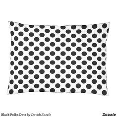 Black Polka Dots Dog Bed  This design is available  on many products! Click the link and hit the 'Available On' button near the product description to see them all! Thanks for looking!  @zazzle #polka #dots #decor #home #design #dog #bed #pet #animal #friend #family #accessory #accessories #buy #sale #shop #shopping #owner #fun #sweet #fido #woof #awesome #cool #chic #modern #style #bed #collar #leash #bowl #tag