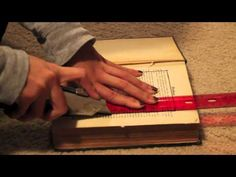 DIY: Hollowed/Carved Book - absolut basics of book carving