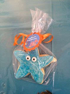Starfish Cookies, finding nemo baby shower, under the sea party, beach party