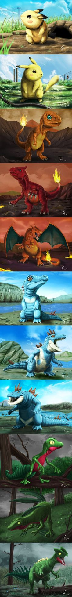 Realistic Pokemon by Camus Altamirano