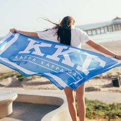 KKG Flag | Summer Essential | Recruitment Ideas | Sorority Flags | Bid Day Ideas