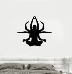 Vinyl Decal Yoga Pose Zen Buddhism Meditation Decor Wall Stickers (ig2689)