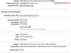 Traffic Monsoon Payment No11  http://bestptcsites.biz/
