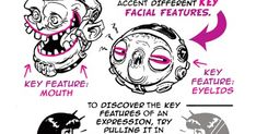 Today's tutorial request came via email from Naomi Anfisa who asked for a tutorial on FACIAL EXPRESSIONS. Another big topic thi. Cartoon Tutorial, You Draw, Facial Expressions, Drawing Tips, Art Tutorials, Things To Think About, Characters, Big, Drawings