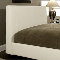 @Overstock - This contemporary-styled bed will provide your bedroom with a fresh update. Crafted with faux leather over solid hardwood, this bed frame features a slat design that eliminates the need for a box spring.http://www.overstock.com/Home-Garden/Malibu-White-Bi-Cast-Leather-Queen-Size-Bed/6436325/product.html?CID=214117 $456.99