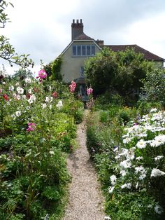 The garden at Charleston (Sussex), home of Vanessa Bell and Duncan Grant of the Bloomsbury group.