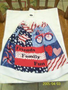 Friends Family Fun Patriotic Crochet Top by kayandgirlscrafts, $3.00