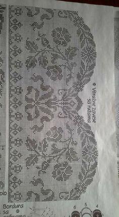 Crochet Edging Patterns, Crochet Borders, Filet Crochet, Cross Stitch Patterns, Crochet Hats, Embroidery Stitches, Embroidery Designs, Crochet Curtains, Tatting