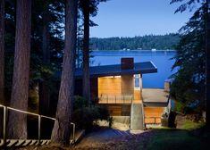 Herron Island Cabin, Seattle, Washington designed by First Lamp Architects