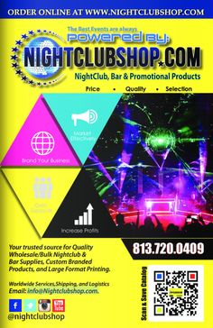 Nightclubshop Online Catalog Featuring some of our hottest selling Nightclub, restaurant,Bar,Special Event, Wedding Party Products and Custom Branded Merch and Customized Promo Products