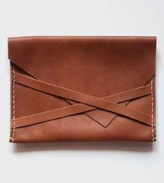 Leather Envelope Clutch - Can't stop loving this. So simple chic...