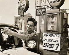 ahhh.... those were the days... When we could pull up and get full service. pump your gas, clean your window and check air in tires.