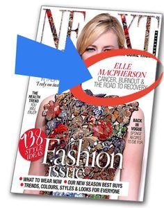 NEXT mag April 2016 Cover featured Elle Macpherson
