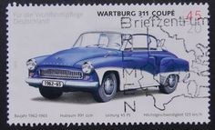 Wartburg 311 Coupe Classic Car Germany -Handmade Framed Postage Stamp Art 6846