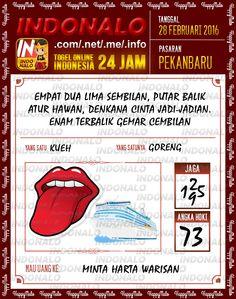 Prediksi Togel Online Live Draw 4D Indonalo Pekanbaru 28 Febuari 2016