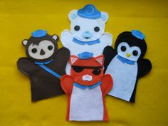 Octonauts felt puppets - I think I know a little girl who will get these for her birthday!