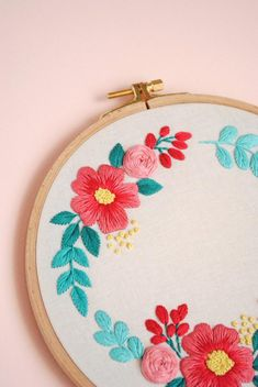Included in your embroidery PDF pattern file: Border Embroidery Designs, Basic Embroidery Stitches, Floral Embroidery Patterns, Hand Embroidery Flowers, Creative Embroidery, Embroidery Hoop Art, Cross Stitch Embroidery, Silk Ribbon Embroidery, Making Fabric Flowers
