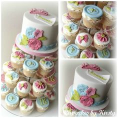 Gorgeous sewing/knitting themed cake and cupcakes using our Crochet Flower and Leaf mould and our Crochet Border mould http://www.karendaviescakes.co.uk/Moulds/?p=196_Flowers_%26_Leaves_Mould
