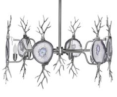 Branch Agate Chandelier, Nickel