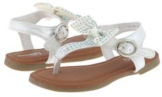 Capelli New York Metallic Shimmer Faux Leather Toddler Girls Sandals * Wow! I love this. Check it out now! : Girls sandals